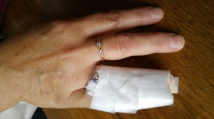 finger in bandage